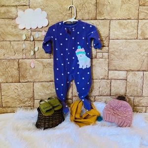 Polka dot Pajama Zip Up